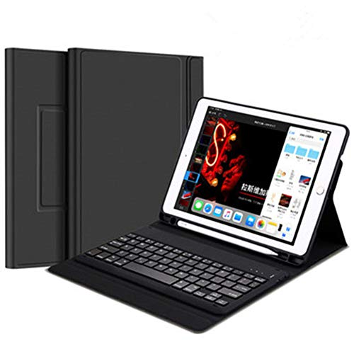 Strnry Ipad Keyboard Case with Wireless Keyboard,Bluetooth Keyboard for Ipad 2018 (6Th Gen)/Ipad 2017 (5Th Gen)/Ipad 10.2/Ipad Mini 5,Built-In Pencil Holder,9.7 2017/2018