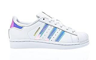 Adidas Superstar, Scarpe da Ginnastica Unisex-Bambini, Ftwr White/Ftwr White/Metallic Silver Sld, 38 EU (B011LDHKMK) | Amazon price tracker / tracking, Amazon price history charts, Amazon price watches, Amazon price drop alerts