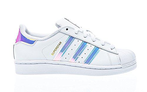 adidas Unisex-Kinder Superstar J AQ6278 Sneaker, Weiß FTWR White Metallic Silver SLD, 36 2/3 EU