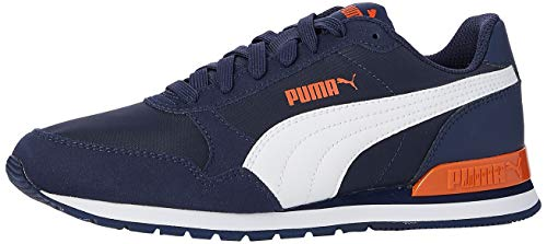 PUMA ST Runner v2 NL Jr Sneaker, Peacoat White-Firecracker, 37.5 EU