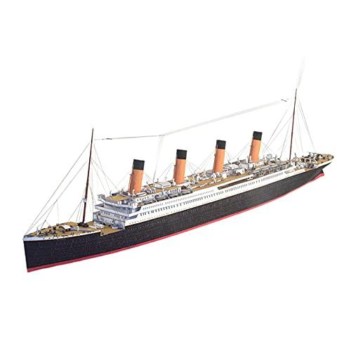 perfeclan 3D British Cruise Titanic Ship DIY Puzzle Ensamblar Kit de Modelo de Papel Juego Coleccionables Decoración de Escritorio Adornos Regalos