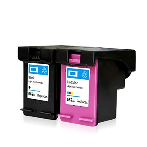 HXAK Sustitución de Cartuchos de Tinta remanufacturados para HP 662XL para Uso con Deskjet Ink Advantage 1015 1016 1018 1014 1515 1516 1518 Impresora Black+Tri-Color