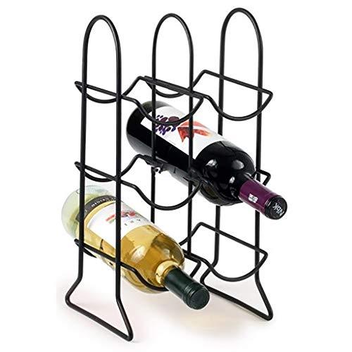 Wine Rack, 6 Bottiglia Free Standing mensola del Vino, Minimalista Design, Vino Shelf Governo, for Le Decorazioni Natalizie