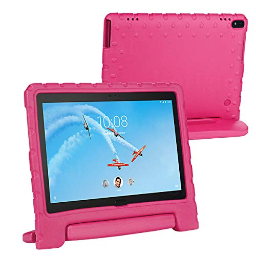 cradle HR Compatible Kids Protective New Hand stand Case for Lenovo Tab 4 10/10 Plus 10 Inch Tablet,EVA Light Weight Protective Case Shock Proof stand Cover (magenta)