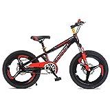 FUFU Bicicletas para Niños 18/20 Pulgadas Niños Y Niñas Ciclismo, Adecuado para Niños De 7 A 14 Años, 2 Colores (Color : Red, Size : 18in)
