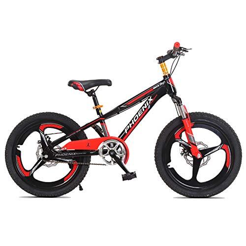 Axdwfd Infantiles Bicicletas Bicicletas para Niños 18/20 Pulgadas Niños Y Niñas Ciclismo, Adecuado para Niños De 7 A 14 Años, 2 Colores (Color : Red, Size : 18in)