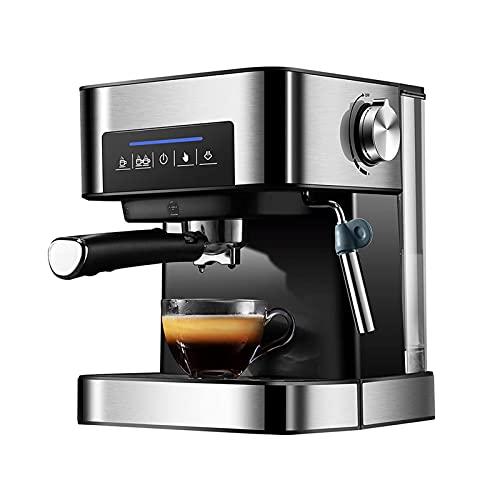 Ekspres do kawy Przelewowy ekspres do kawy Programowalny ekspres do kawy W pełni automatyczne wysokociśnieniowe parowe spienianie mleka Nadaje się do parzenia kawy (Kolor : Srebrny, Rozmiar : Jeden ro
