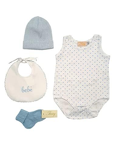 Conjunto de ropa de bebé para nacimiento, hospital, fabricado en Italia, de algodón Juego de 10 unidades Talla única