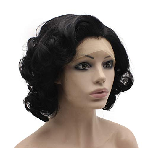 Mxangel Short Curly Synthetic Hair Lace Front Wig