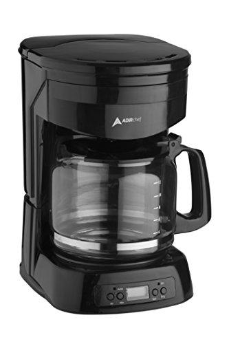 AdirChef 12-Cup Programmable Coffeemaker, Black