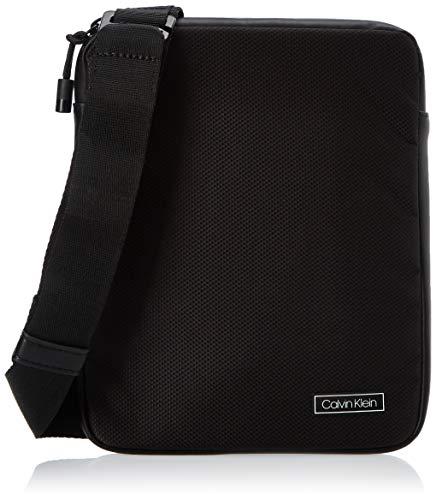 Calvin Klein Revealed Flat Crossover - Borse a spalla Uomo, Nero (Black), 0.1x0.1x0.1 cm (W x H L)