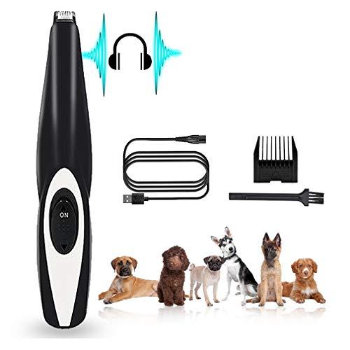 Dog Grooming Clippers, Cat Dog Clippers Pet Hair Trimmer, Rechargeable Wireless Ontwerp Low Noise Electric voor haar rond gezicht, ogen, oren, Paw, Rum