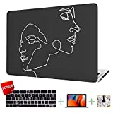 VAESIDA MacBook Pro 13 Inch Case, Hard Laptop Cover Case & Keyboard Cover & Screen Protector ONLY for Old Mac Pro 13 Retina Display 2012-2015 Release (ONLY for Model A1425/A1502) (Face Sketch)