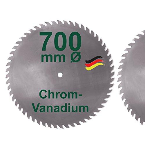 CV Sägeblatt 700 mm KV-A Wolfszahn Brennholzsägeblatt Kreissägeblatt Chromvanadium für Wippsäge und Brennholz 700mm