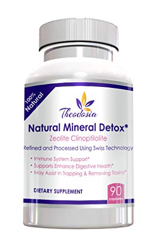 Zeolite Clinoptilolite Natural Mineral Detox – Effective Gut and Immune System Support – 97% Purity Capsules – Made in America (1000 mg)