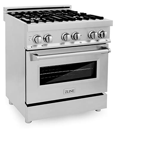 """ZLINE 30"""" 4.0 cu. ft. Range with Gas Stove and Gas Oven with Color Options (RG30) (Stainless Steel)"""