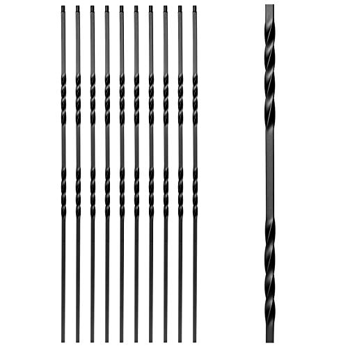 Aotree Iron Balusters - Wrought Iron Stair Balusters - Double Twist Metal Spindles - 44