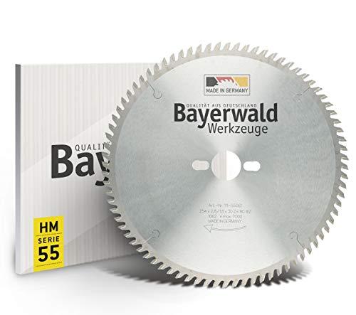 Bayerwald - HM Tischkreissägeblätter - Ø 254 mm x 2,8 mm x 30 mm | Wechselzahn | Kombinebenlöcher für Bosch GTS 10 & PTS 10 (80 Zähne)