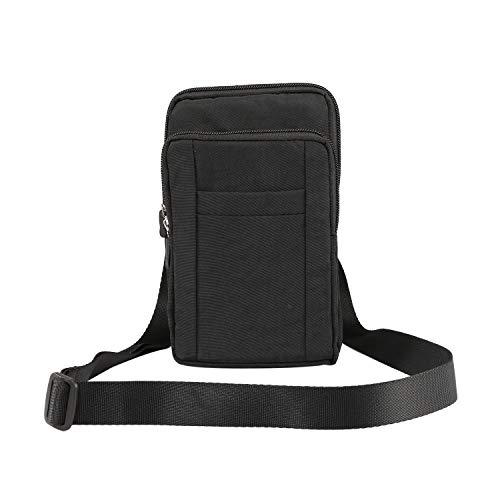 GUOQING Clip para cinturón de teléfono móvil, bolsa para iPhone Xs Max XR 7 8 Plus, bolsa de mano para deportes al aire libre (color: negro)