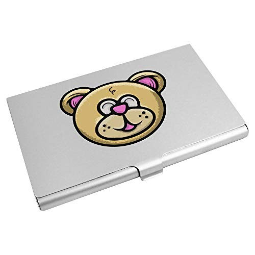 Azeeda 'Teddy Bear Head' Business Card Holder / Credit Card Wallet (CH00022546)