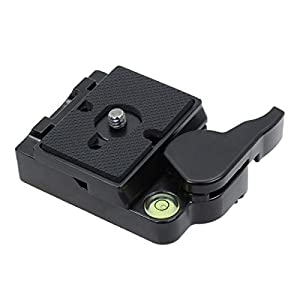 SIOTI 323 RC2 Quick Release Plate Adapter, Rapid Connect Adapter with Quick Release Plate for Manfrotto Monopod, Manfrotto Tripod, or Other Ball Head and Tripod