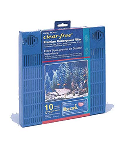 Penn-Plax Premium Under Gravel Filter System - for 10 Gallon Fish Tanks & Aquariums, Blue (CFU10)