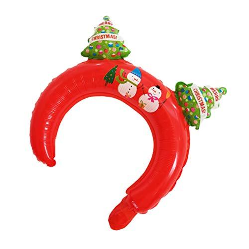 NOLITOY 24 PCS Navidad Inflación DIEADA Globo Cabello Hoop Partido Sombreros de Navidad Traje de Navidad Accesorios Accesorios Fiestas de Vacaciones Favorece Árbol de Navidad