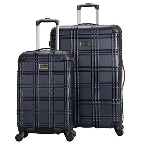 Ben Sherman 181667 Nottingham Lightweight Hardside 4-Wheel Spinner Travel Luggage, Navy, 2-Piece Set (20' & 28')