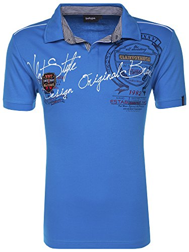 behype. Poloshirt Deciding T-Shirt 20-2687 Türkis M