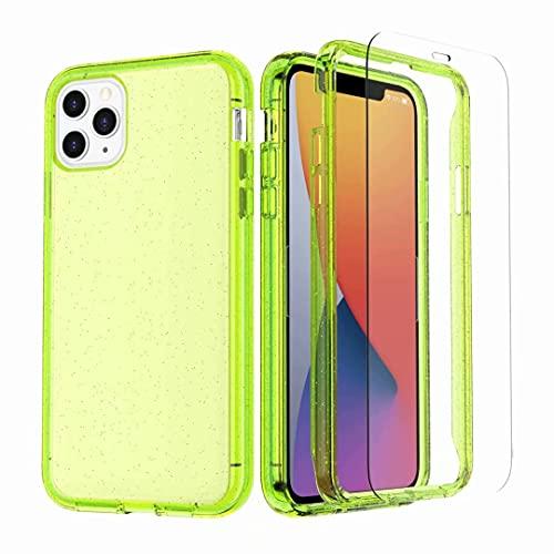 Funda para iPhone 7 Plus, iPhone 8 Plus, [protector de pantalla templado integrado] a prueba de golpes, protección completa, carcasa rígida híbrida de goma TPU para iPhone 7 Plus/8 Plus
