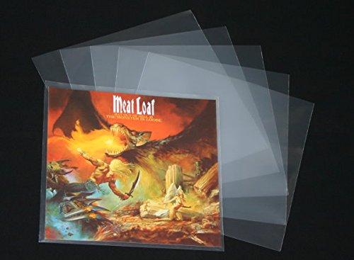 100 St. glasklare Schellack Cover Schutzhüllen für Vinyl Schallplatten 10 Zoll / Inch 270 x 270 mm 100 mµ outer Sleeves