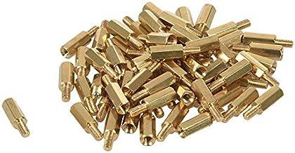Fransande 50 stuks M3 mannelijke x M3 vrouwelijke 11mm lengte messing schroefdraad PCB stand-off afstandhouders