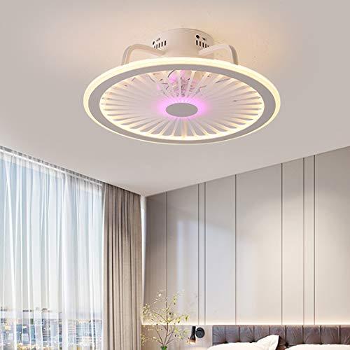 Ventilatore a Soffitto con Luce, Ventilatore a Soffitto Ultra Silenzioso Creativo con Telecomando Luce a LED Soggiorno Moderno Camera da Letto Ristorante Camera da Letto Illuminazione Decorativa