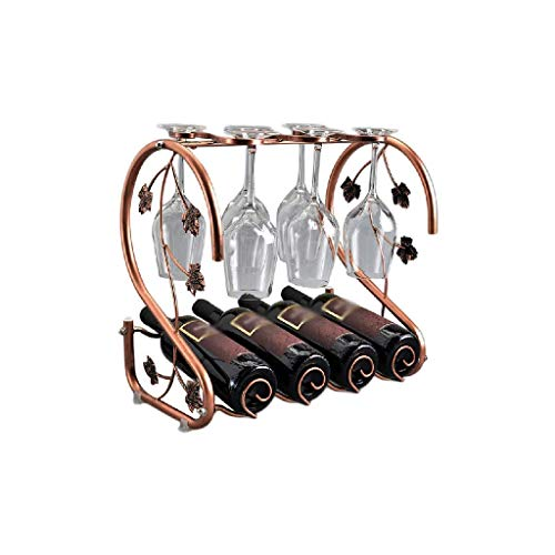 DAGONGREN Iron & Wine Rack de Alambre de Metal Estante del Vino - for la Cocina Las encimeras, despensa, Nevera - Independientes, apilable