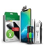 GIGA Fixxoo Display-Set für iPhone X |Reparatur-Set komplett mit Werkzeug-Kit, Ersatz Bildschirm, Retina LCD Glas mit Touchscreen (wie Original Display)