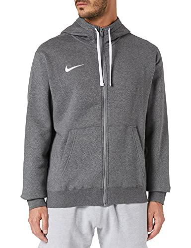 NIKE Chaqueta con capucha para hombre. gris carbón, blanco y blanco L