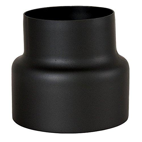 MULDENTHALER Reduzierung, Reduktion, Rauchrohr, Ofenrohr, Senotherm, 150 mm - 120 mm Schwarz