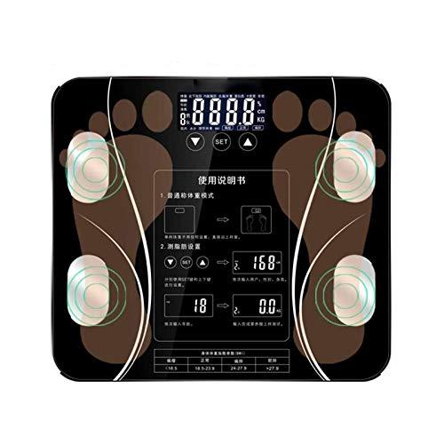 XTZJ Escala del analizador de Cuerpo, analizador de composición Corporal de baño Digital Altamente preciso, Mide el Peso, la Grasa Corporal, el Agua, el músculo y la Masa ósea para 10 usuarios