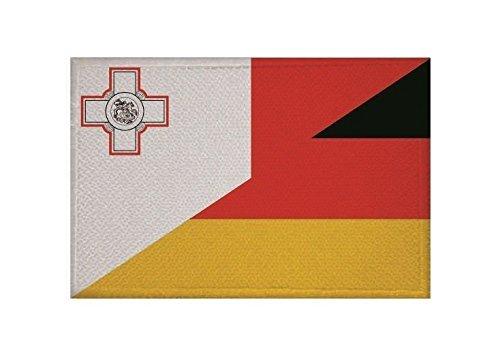 U24 Aufnäher Malta-Deutschland Fahne Flagge Aufbügler Patch 9 x 6 cm