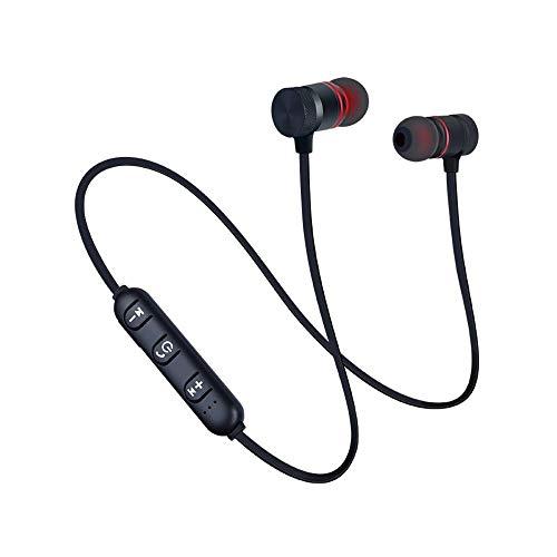 CIC Fone de Ouvido Bluetooth 4.1 Magnético Esportivo Metal Sports À Prova d'água Estéreo com Microfone, Preto