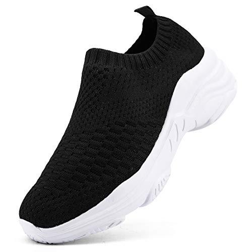 Femme Baskets Chaussures de Sport Mode Femme Gym Fitness Sport Sneakers Chaussures Running Shoes, Noir 1, 41 EU