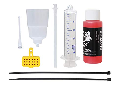 RSN Sports Bleed Kit for Shimano Hydraulic MTB Brakes with 60ml Mineral Oil