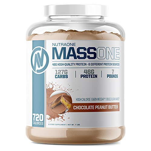 Massone Mass Gainer Protein Powder by NutraOne – (Chocolate Peanut Butter - 7 lbs.)