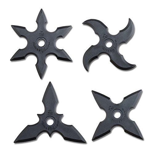 Throwing Star - Estrellas ninja (4 unidades, goma