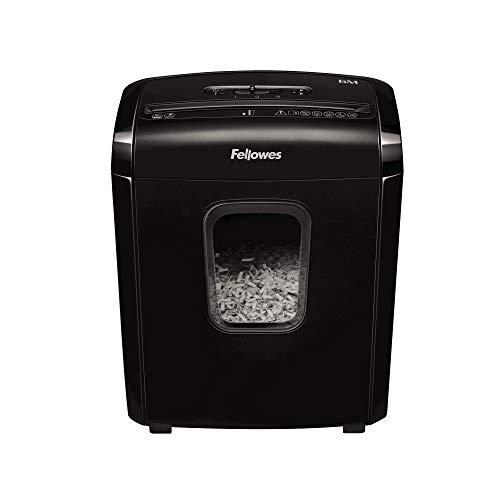 Fellowes 6M - Destructora trituradora de papel, Mini-Corte, 6 hojas. Para hogar y oficina en casa, con bloqueo de seguridad