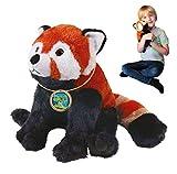 EcoBuddiez Panda Soft Toy Rojo, Grande (los 30cm) - Juguete Suave y mimoso de la...