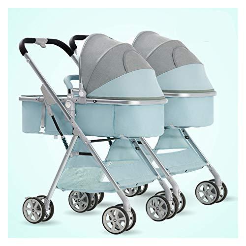 MMYYIP 3 kan in een dubbele kinderwagen zitten met een hoge-resolutie-weergave Deck Shock kinderwagen liggen.