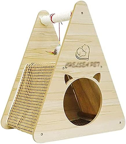 Haieshop Cat Tree 5 ☆ very popular Scratching Post House Tower Wood San Jose Mall Solid