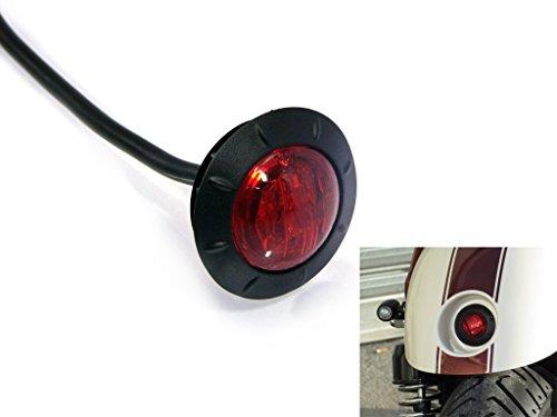 """Tondo Moto LED Semaforo Fanale Posteriore - 2 \"""" 50mm per Parafango Posteriore - ad Incasso per Cafe Racer Street Scrambler Project"""