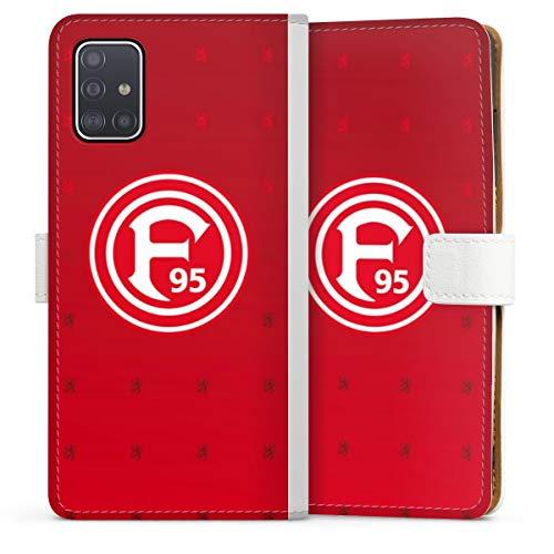 DeinDesign Klapphülle kompatibel mit Samsung Galaxy A51 Handyhülle aus Leder weiß Flip Case Fortuna Düsseldorf Trikot F95